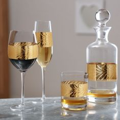 Luxury Gold Leaf Glassware