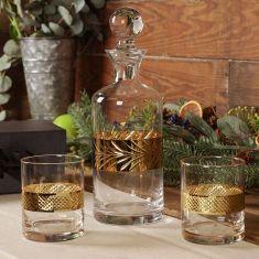 Gold Leaf Whisky Decanter Gift Set