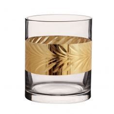 Gold Leaf Whiskey Tumbler