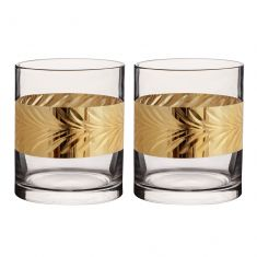 Pair of Gold Leaf Whisky Tumblers