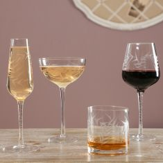 Botanical Etched Glassware Collection