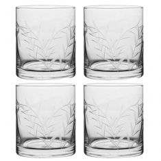 Set of 4 Highland Thistle Clear Water Glasses