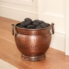 Antique Style Hammered Copper Coal Bucket