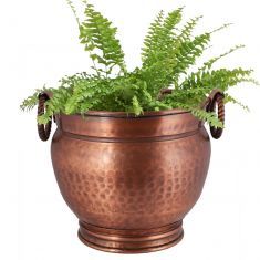 Vintage Urn Style Copper Planter Pot