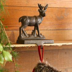 Cast Iron Reindeer Christmas Stocking Holder