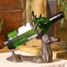 Cast Iron Stag Wine Bottle Holder