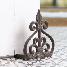 Cast Iron Fleur de Lys Door Wedge