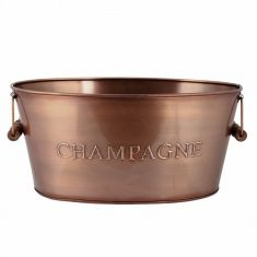 Embossed Copper Champagne Bucket