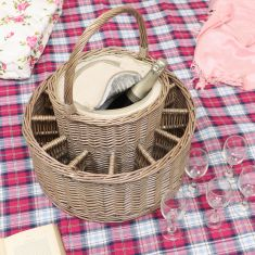 Willow Wicker Cooler Basket Hamper