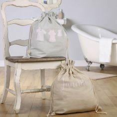 Soft Tones Drawstring Laundry Bags