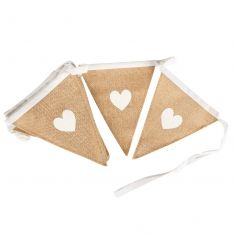 White Heart Jute Country Bunting