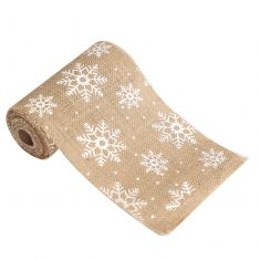 Jute Snowflake Christmas Table Runner