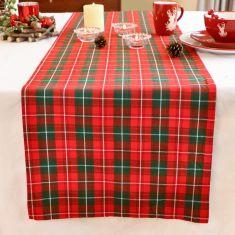 Highland Red Tartan Table Runner