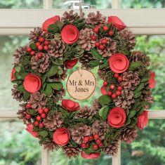 Personalised Rose Flower Wreath 14