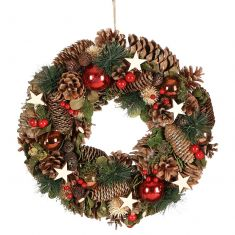 Baubles and Stars Christmas Wreath 14
