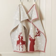 Set of 2 Red Stag Tea Towels