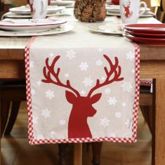 Red Stag Table Runner