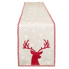 Red Reindeer Table Runner