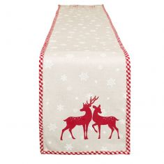 Woodland Reindeer Personalised Table Runner