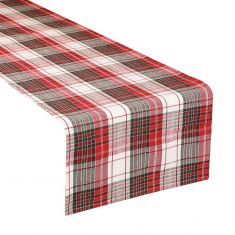 Country Plaid Outdoor Dining Table Runner