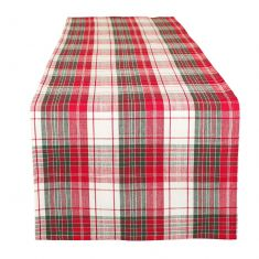Highland Red Plaid Table Runner