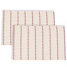 Set of 2 Red Heart French Country Fabric Place Mats
