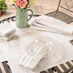 Millstone Blue Table Linen