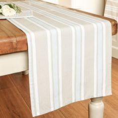 Millstone Blue Stripe Fabric Table Runner