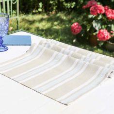Summer Blue Garden Alfresco Table Runner