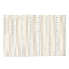 Blue Heart French Country Fabric Place Mat