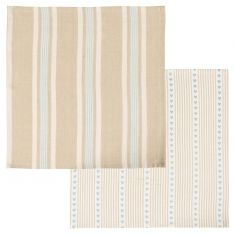 Set of 2 Millstone Blue Fabric Napkins
