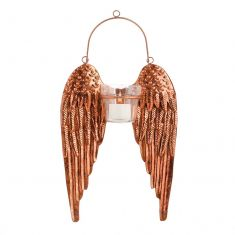 Copper Angel Wings Candle Holder