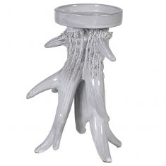 Ceramic Grey Antler Candle Holder