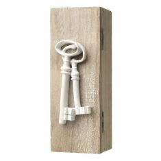 White Wooden Key Box