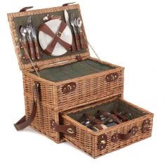 Four Person Picnic Hamper with Drawer