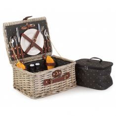 Althorp Luxury Dark Wash Two Person Picnic Hamper
