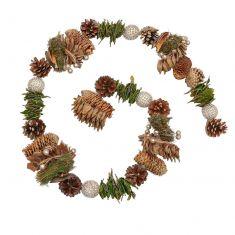 Glittering Woodland Christmas Garland