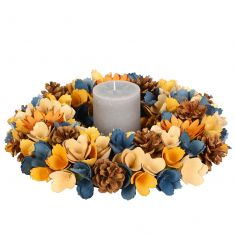 Midnight Blue Dining Table Centrepiece Wreath
