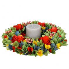 Rainbow Dining Table Centrepiece Wreath