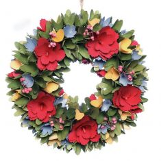 Colourful Blooms Floral Wreath 12.5