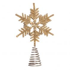 Gold Snowflake Tree Topper