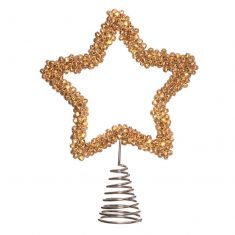Golden Bells Star Tree Topper