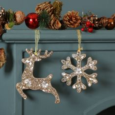 Champagne Sparkle Christmas Tree Decorations