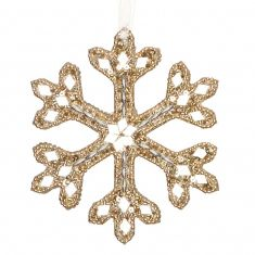 Sparkling Champagne Gold Snowflake Christmas Decoration