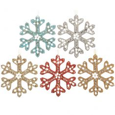 Sparkling Snowflake Christmas Decoration