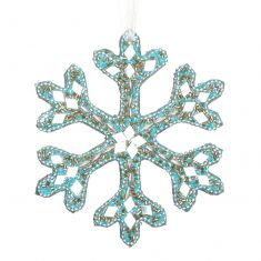 Sparkling Blue Snowflake Christmas Decoration
