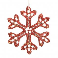 Red Snowflake Christmas Decoration