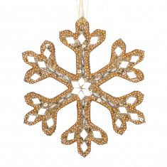 Sparkling Gold Snowflake Christmas Decoration