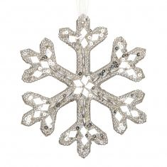 Sparkling Silver Snowflake Christmas Decoration