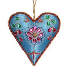 Blue Hanging Heart Christmas Decoration